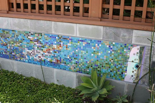 Wall with Glass Tiles
